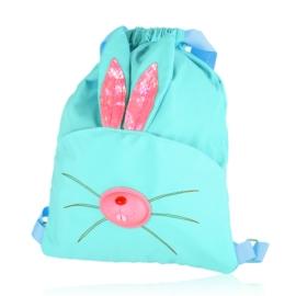 Plecak dziecięcy niebieski neon - królik - PL414