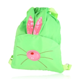 Plecak dziecięcy zielony neon - królik - PL415