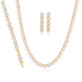 Komplet biżuterii ślubnej Xuping - SKO114