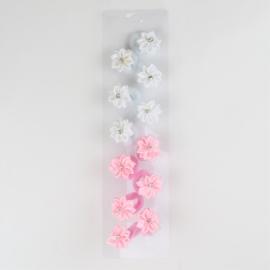 Gumeczki kwiatki white pink 12szt/op OG1268
