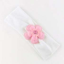 Opaska niemowlęca z kwiatkiem OPS1076