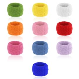 Gumki puchate mix kolorów 4cm 10szt OG1316