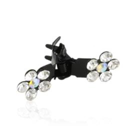 Spinki żabki z kwiatkami 12szt OS1192