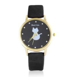 Zegarek damski na pasku kotek Z2578