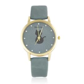 Zegarek damski na pasku kotek Z2579
