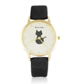 Zegarek damski na pasku kotek Z2580