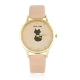 Zegarek damski na pasku kotek Z2581