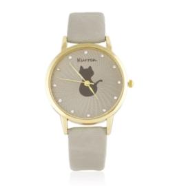Zegarek damski na pasku kotek Z2582