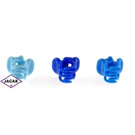 Żabki do włosów - mix blue 1,5cm ZW152