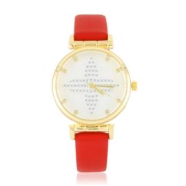 Zegarek damski na pasku - czerwony - Z2620