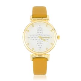 Zegarek damski na pasku - musztardowy - Z2621