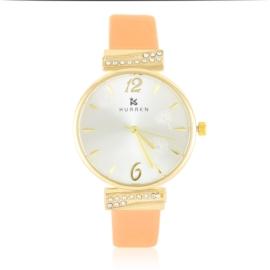 Zegarek damski na pasku - orange - Z2626