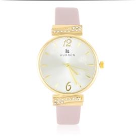 Zegarek damski na pasku - beige - Z2628