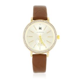 Zegarek damski na pasku z kryształkami - Z2634