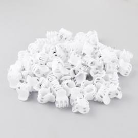 Żabki kauczukowe białe 1cm 100szt - ZW178