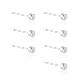 Kolczyki sztyfty kryształki 7szt EAP17903