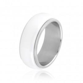 Obrączka ceramiczna biała Xuping PP3301