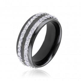 Obrączka ceramiczna z kryształkami Xuping PP3299