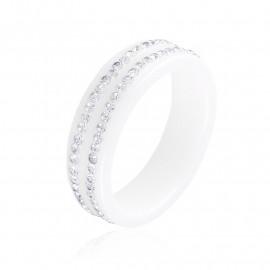 Obrączka ceramiczna z kryształkami Xuping PP3298