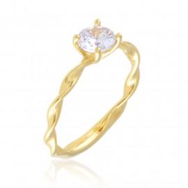 Pierścionek stalowy zaręczynowy Blueberry - PP3308