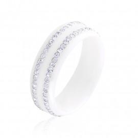 Obrączka ceramiczna biała Xuping PP3311