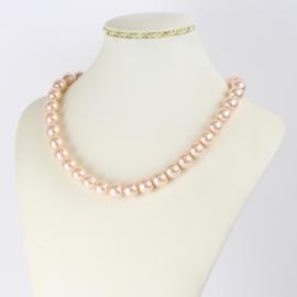 Naszyjnik perłowy czeski 45cm różowy NA2364