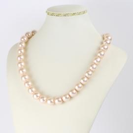 Naszyjnik perłowy czeski 50cm różowy NA2367