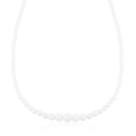 Naszyjnik perłowy czeski 50cm mleczny NA2375