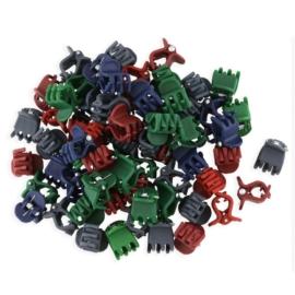 Żabki kauczukowe kolorowe 2cm 100szt - ZW180