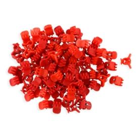 Żabki czerwone kauczukowe 1cm 100szt - ZW182
