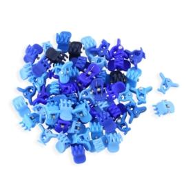 Żabki niebieskie kauczukowe 1cm 100szt - ZW183