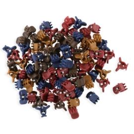 Żabki mix kolorów kauczukowe 1cm 100szt - ZW186