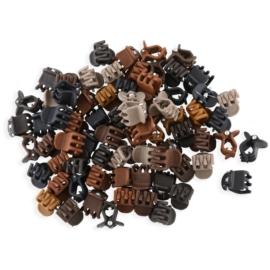 Żabki mix kolorów kauczukowe 1cm 100szt - ZW187