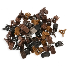 Żabki mix brązów kauczukowe 2cm 100szt - ZW188