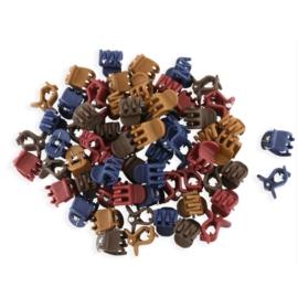 Żabki mix kolorów kauczukowe 2cm 100szt - ZW189