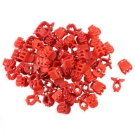 Żabki czerwone kauczukowe 2cm 100szt - ZW191