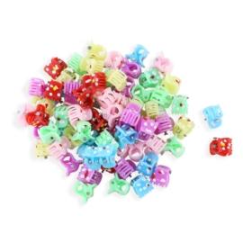 Żabki plastikowe mix kolorów 1cm - ZW195