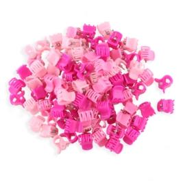 Żabki plastikowe różowe 1cm - ZW196