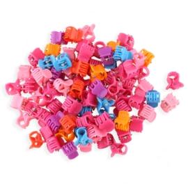 Żabki plastikowe mix kolorów 1cm - ZW197