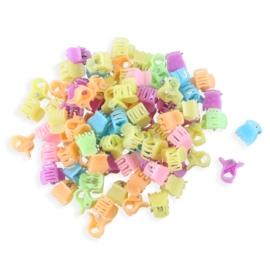 Żabki plastikowe mix kolorów 1cm - ZW198
