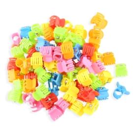 Żabki plastikowe mix kolorów 2cm - ZW200