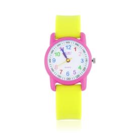 Zegarek dziecięcy silikonowy żółty Z2666