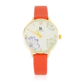 Zegarek damski na pasku - czerwony - Z2672