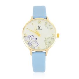 Zegarek damski na pasku - błękitny - Z2674