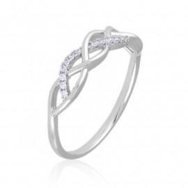Pierścionek codzienny z kryształkami Xuping PP3347