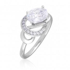 Pierścionek codzienny z kryształkami Xuping PP3346