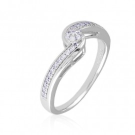 Pierścionek codzienny z kryształkami Xuping PP3345