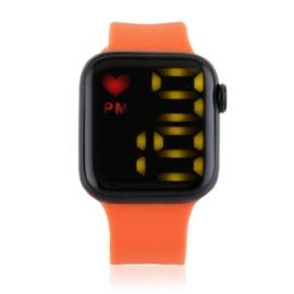 Zegarek damski sylikonowy LED czerwony - Z2687
