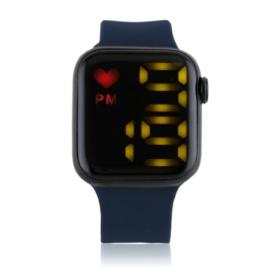 Zegarek damski sylikonowy LED granatowy - Z2688