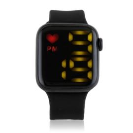 Zegarek damski sylikonowy LED czarny - Z2689